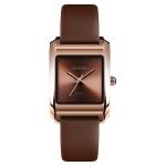SKMEI 1432 Ladies Fashion Watch Matte Waterproof Quartz Watch(Brown)