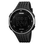 SKMEI 1219 Men Multi-Function Electronic Watch Outdoor Sports Watch(Silver)