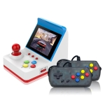 Mini FC Game Console Retro Double Joystick Handheld Game Console, Product color: Blue+Controllers