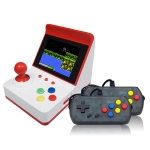 Mini FC Game Console Retro Double Joystick Handheld Game Console, Product color: Red+Controllers