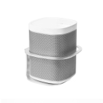 Network Cable Port Upgrade Metal Speaker Wall Mount Bracket For SONOS One SL / PLAY 1(Silver)