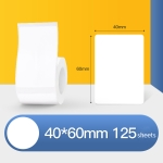 Thermal Label Paper Self-Adhesive Paper Fixed Asset Food Clothing Tag Price Tag for NIIMBOT B11 / B3S, Size: 40x60mm 125 Sheets