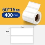 Thermal Label Paper Self-Adhesive Paper Fixed Asset Food Clothing Tag Price Tag for NIIMBOT B11 / B3S, Size: 50x15mm 460 Sheets