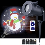 4W LED Christmas Animation Projection Lamp Outdoor Waterproof Lawn Decorative Light US Plug + Remote Control