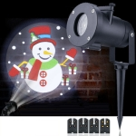 4W LED Christmas Animation Projection Lamp Outdoor Waterproof Lawn Decorative Light US Plug