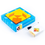 XMQY-007 Children Wooden Educational Toys Thinking and Logic Training 3D Puzzle Blocks(Polygon Puzzle)