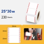 2 PCS Jewelry Tag Price Label Thermal Adhesive Label Paper for NIIMBOT B11 / B3S, Size: Rhododendron Red 230 Sheets