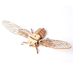 5 PCS MQY005 Children Educational Early Education DIY Hand-Assembled 3D Animal Model Puzzle Toy(Cicada)