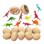 ecoey 12 PCS / Set Dinosaur Eggs Simulated Archaeological Excavation Dinosaur Model Children Toys