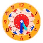 KBX-974 5 PCS Time Cognition Digital Clock Children Early Education Toy(Orange)