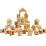 KBX-87 Children Assembling Educational Large Wooden Building Blocks Toy Set