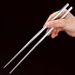4 PCS 304 Stainless Steel Chopsticks Tableware, Specification: Chopsticks