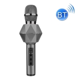 Lebo K7 Mobile Phone K Song Wireless Bluetooth Microphone Multi-Function Stereo Portable Smart Microphone(Silver Gray)