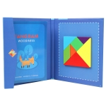 Children Wooden Magnetic Tangram Jigsaw Baby Early Education Graphic Thinking Puzzle Toy