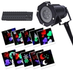 YWXLight 6W 12 Card IP65 Waterproof Snowflake Christmas Projection Light