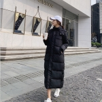 Women Long Loose Padded Down Jacket (Color:Black Size:S)