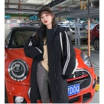 Women Long Over The Knee Thick Down Jacket (Color:Black Size:S)