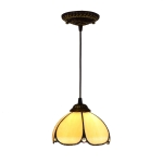 YWXLight 8 inch Simple Style Hanging Lamp Restaurant Bar Bedside Glass Study Hallway Balcony Pendent Lamp