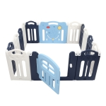 [US Warehouse] 14 Panels Moon Pattern Indoor and Outdoor Foldable Baby Safety Fence