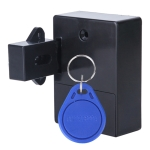 T3 ABS Magnetic Card Induction Lock Invisible Single Open Cabinet Door Lock (Black)