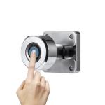 T21 Micro USB Charging Zinc Alloy Smart Single Open Fingerprint Drawer Lock File Cabinet Lock