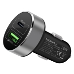 MOMAX PD+QC 3.0 Car Charger(Black)