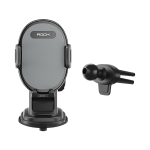 ROCK RAM0009 Suction Cup Retractable Rotating Mechanical Car Holder, Suitable for Phones within 66-102mm Width