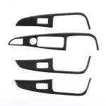 4 PCS Car Carbon Fiber Window Lift Button Decorative Sticker for BMW X5 2020