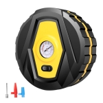 DC12V 120W Portable Multifunctional Round Car Air Pump with Pointer