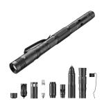 Multifunctional Self-defense Pen Self-defense Broken Window Cone Flashlight Whistle Pen