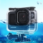 45m Waterproof Housing Protective Case with Buckle Basic Mount & Screw For GoPro HERO9 Black