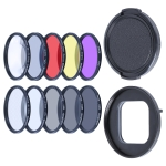 RUIGPRO for GoPro HERO9 Black Professional 52mm 52mm 10 in 1 UV+ND2+ND4+ND8+Star 8+ +CPL+Yellow/Red/Purple+10X Close-up Lens Filter with Filter Adapter Ring & Lens Cap