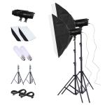 TRIOPO Oubao TTR300W 60x90cm Studio Softbox + Tripod Mount + 2x Light Bulb Photography Lighting Tow Piece Set