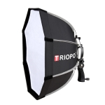 TRIOPO KS90 90cm Dome Speedlite Flash Octagon Parabolic Softbox Diffuser with Bracket Mount Handle for Speedlite