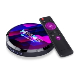 H96 Max 8K Smart TV Box with Remote Control, Android 10.0 Quad-core Amlogic S905X4, 4G+64G Built-in TikTok, Support DLNA / HDMI / USBx2 / 2.4G WIFI(AU Plug)