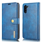DG.MING Crazy Horse Texture Flip Detachable Magnetic Leather Case with Holder & Card Slots & Wallet for Samsung Galaxy Note 10(Blue)