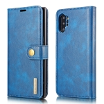 DG.MING Crazy Horse Texture Flip Detachable Magnetic Leather Case with Holder & Card Slots & Wallet for Samsung Galaxy Note 10+(Blue)