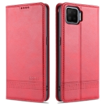 For Oppo A73(4G)2020 AZNS Magnetic Calf Texture Horizontal Flip Leather Case with Card Slots & Holder & Wallet(Red)