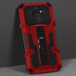 For LG K31 Vanguard Warrior All Inclusive Double-color Shockproof TPU + PC Protective Case with Holder(Red)