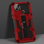 For OPPO A15 Vanguard Warrior All Inclusive Double-color Shockproof TPU + PC Protective Case with Holder(Red)
