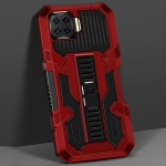 For OPPO A73 Vanguard Warrior All Inclusive Double-color Shockproof TPU + PC Protective Case with Holder(Red)