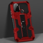 For OPPO Realme C17 Vanguard Warrior All Inclusive Double-color Shockproof TPU + PC Protective Case with Holder(Red)