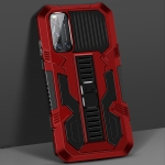 For vivo V19 Vanguard Warrior All Inclusive Double-color Shockproof TPU + PC Protective Case with Holder(Red)