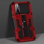 For vivo V20 SE Vanguard Warrior All Inclusive Double-color Shockproof TPU + PC Protective Case with Holder(Red)