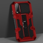 For vivo Y20 Vanguard Warrior All Inclusive Double-color Shockproof TPU + PC Protective Case with Holder(Red)