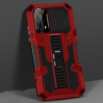 For Huawei P40 Pro Vanguard Warrior All Inclusive Double-color Shockproof TPU + PC Protective Case with Holder(Red)