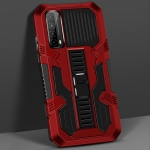 For Huawei Y7a Vanguard Warrior All Inclusive Double-color Shockproof TPU + PC Protective Case with Holder(Red)