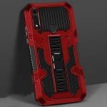 For Motorola Moto E (2020) Vanguard Warrior All Inclusive Double-color Shockproof TPU + PC Protective Case with Holder(Red)