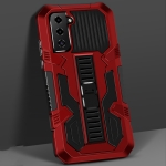 For Samsung Galaxy S30+ Vanguard Warrior All Inclusive Double-color Shockproof TPU + PC Protective Case with Holder(Red)