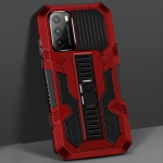 For Xiaomi Poco M3 Vanguard Warrior All Inclusive Double-color Shockproof TPU + PC Protective Case with Holder(Red)